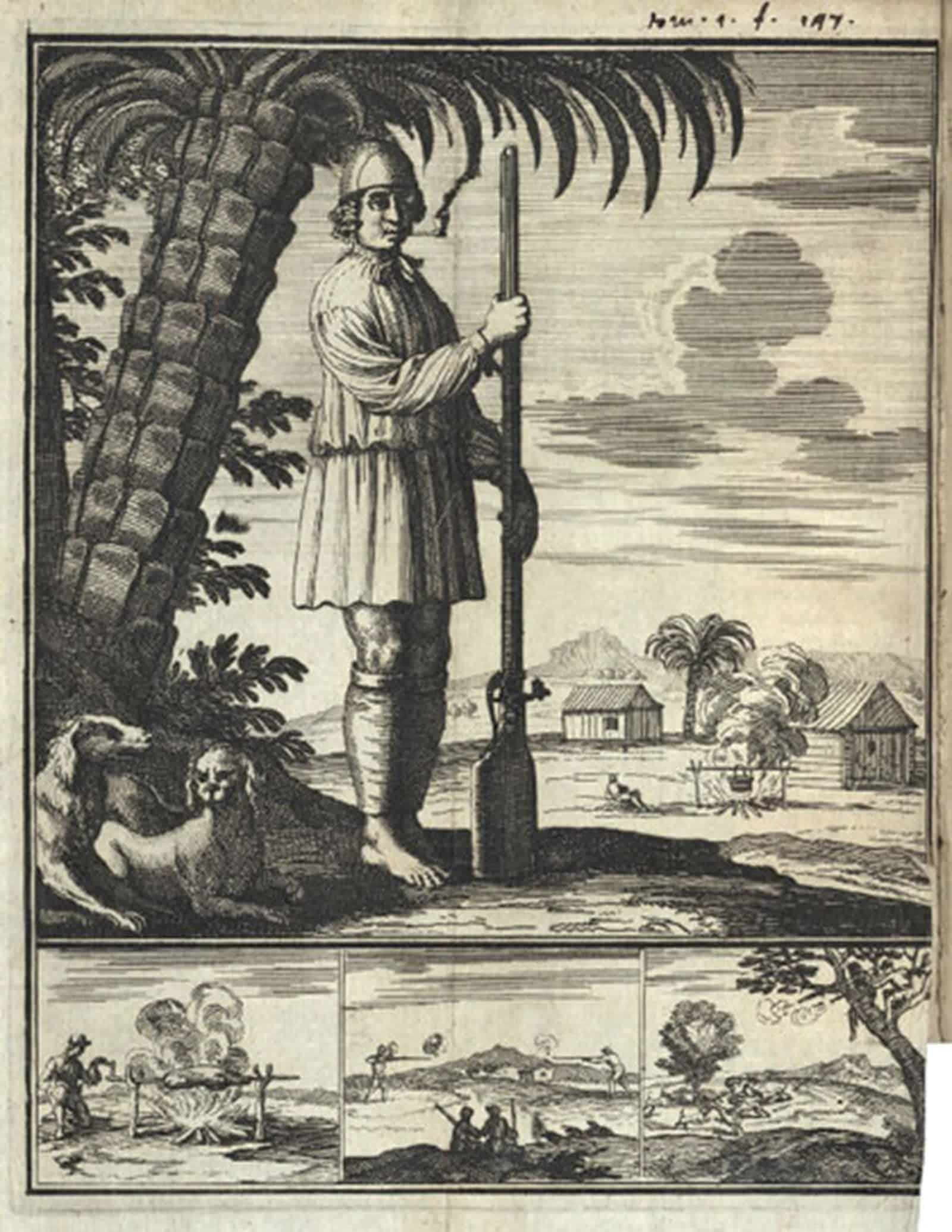 Изображение пирата. Фото: Австрийская Национальная библиотека