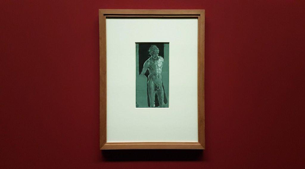 Автопортрет Дюрера в обнаженном виде в экспозиции выставке в Альбертине в Вене. Фото Art with me! e.U., 2019