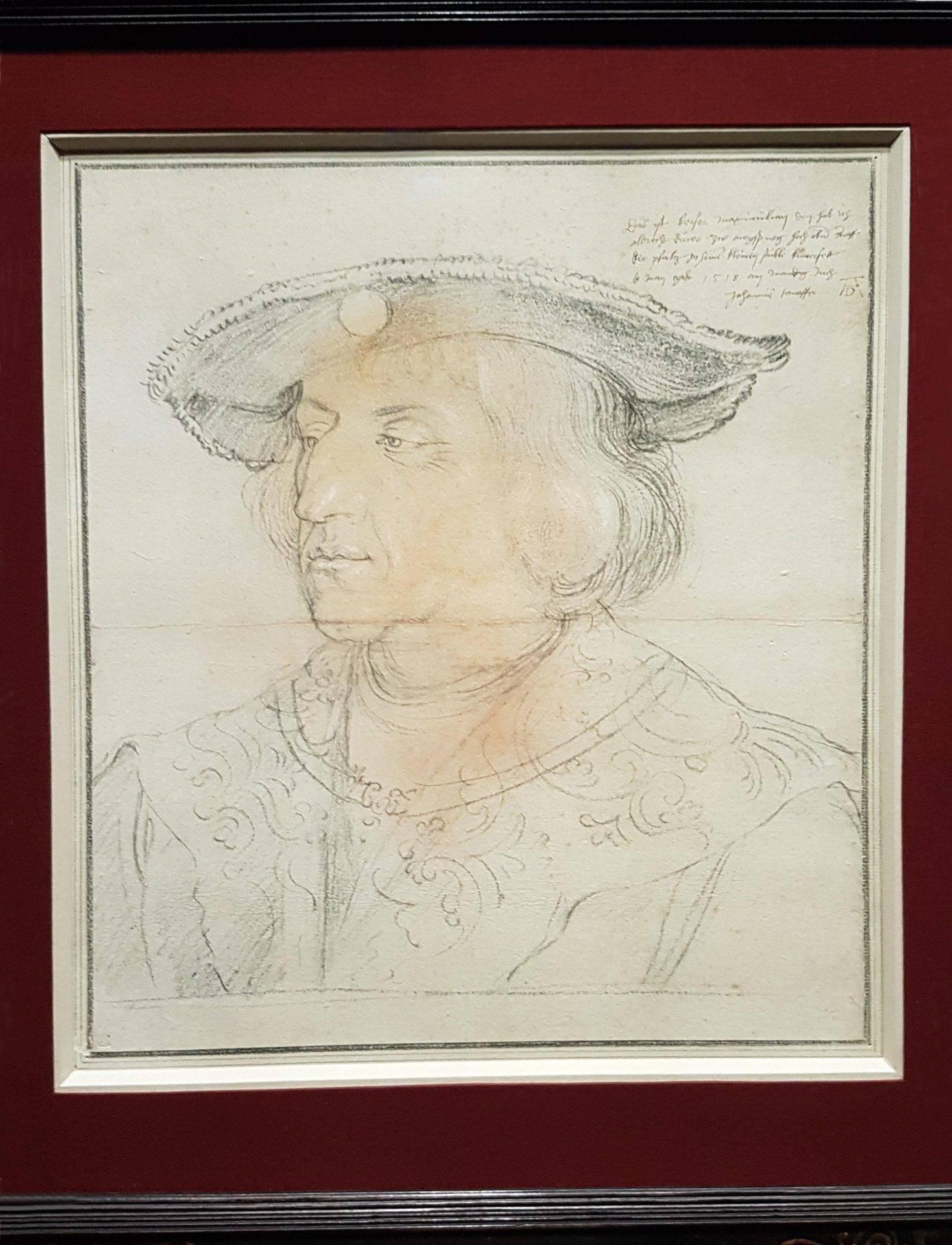 Portrait of Maximilian I (1518) at the Albertina exhibition. Photo Art with me! e.U., 2019