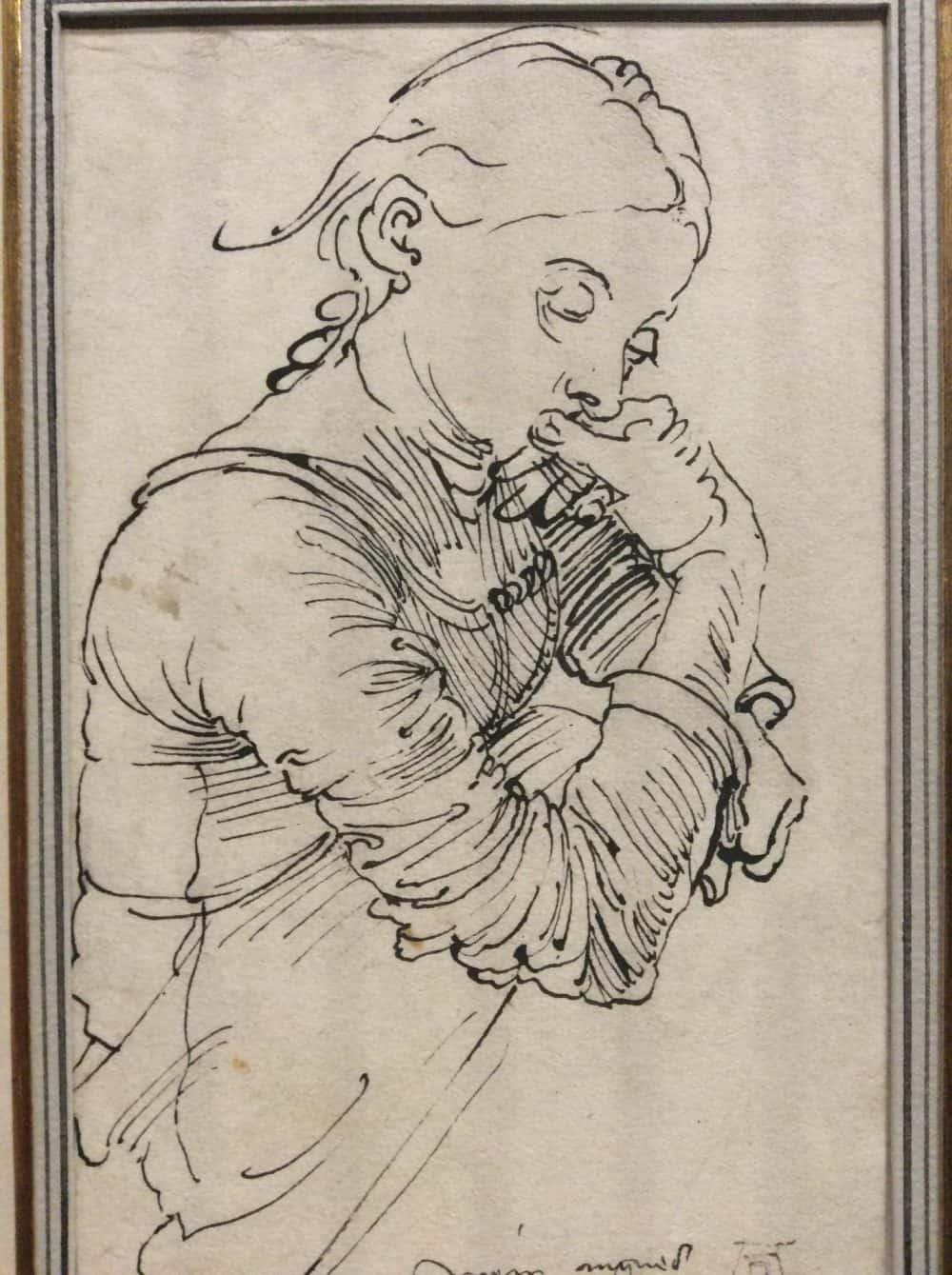 """My Agnes"" (Portrait of Agnes Dürer), 1494 in the Albertina exhibition. Photo: Art with me! e.U., 2019"