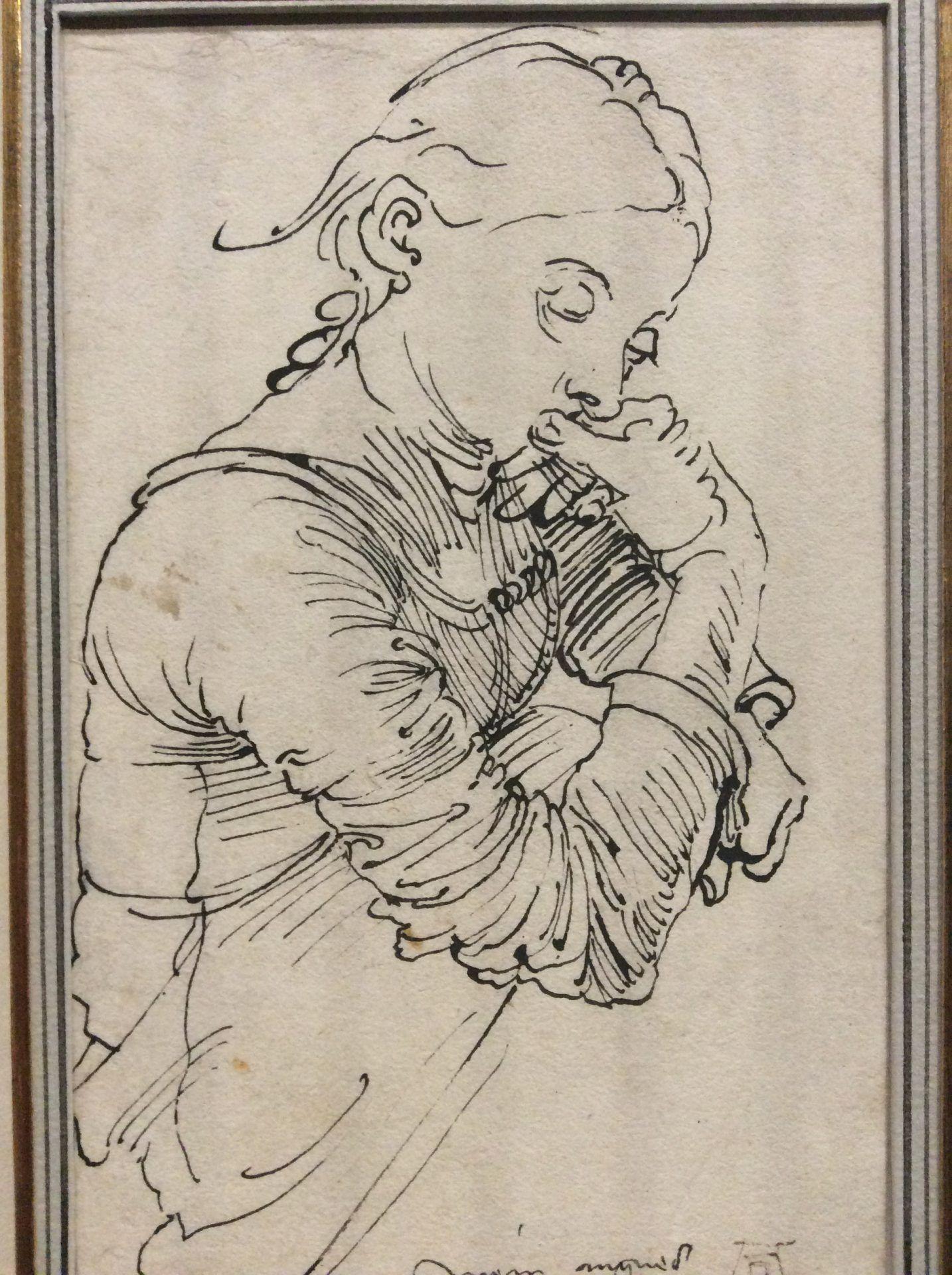 """""""Моя Агнес"""" (Портрет Агнес Дюрер), 1494 в экспозиции выставки в Альбертине. Фото Art with me! e.U., 2019"""