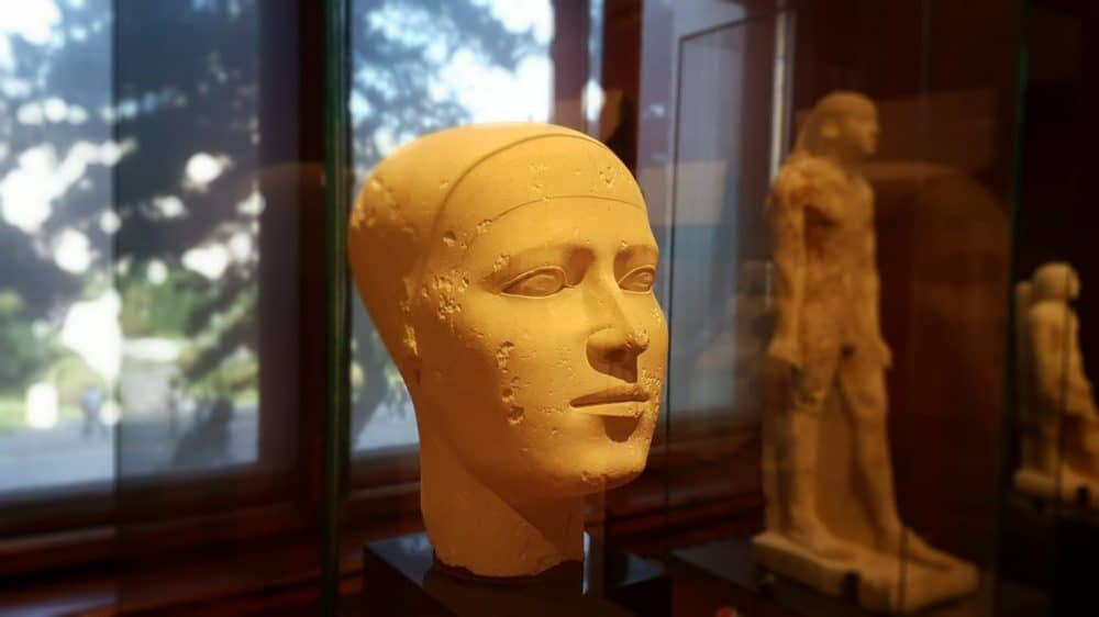 """Reserve head"" in the collection of Egyptian artifacts at the Museum of Art History. Photo: Art with me! E.U., 2019."