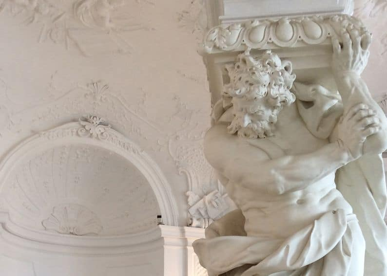 дворец бельведер интерьер атлант