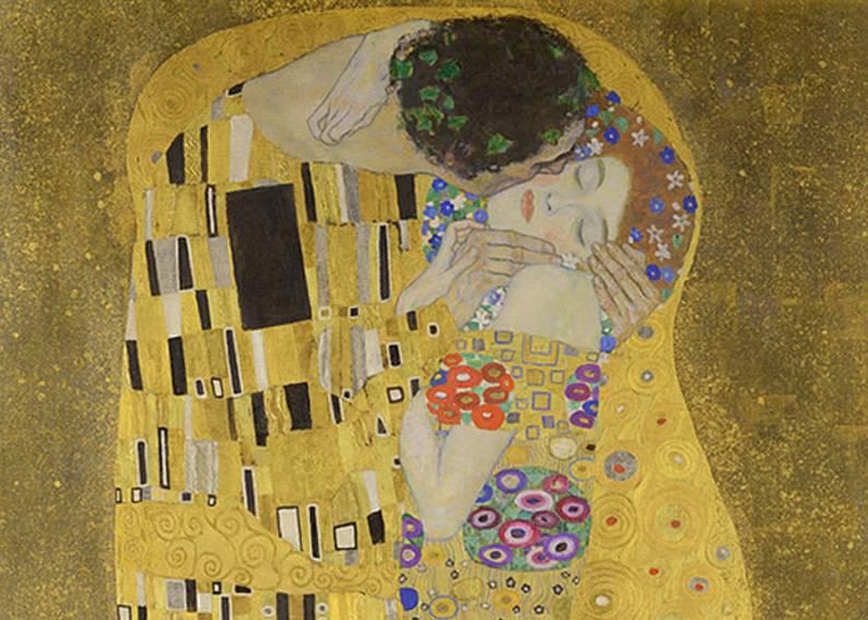 "Фрагмент картины Густава Климта ""Поцелуй"" (1907-1908). Фото wikiart.org"
