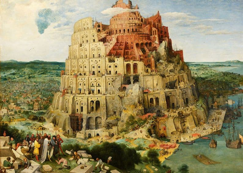 "Pieter Bruegel the Elder ""Tower of Babel"" from thw collection of Vienna Fine Arts Museum, 1563. Photo: wikiart.org"