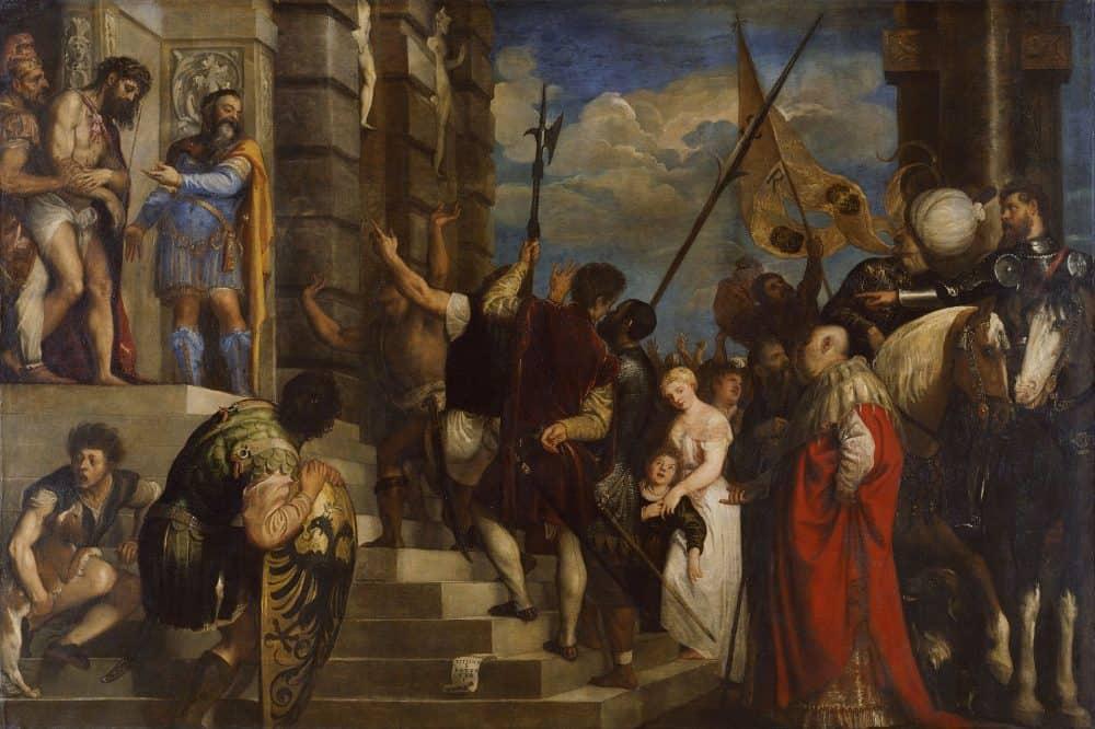 Картина Тициана «Се человек» в экспозиции Музея истории искусства. Фото: wikiart.org
