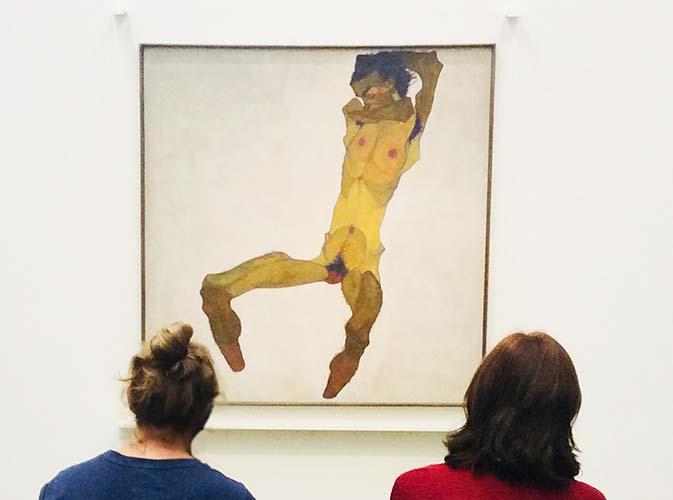 Шиле в Музее Леопольда автопортрет