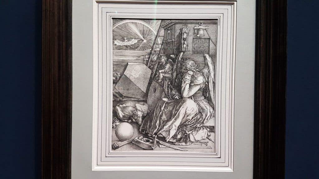 """""""Меланхолия"""" Дюрера в экспозиции выставки в Альбертине.Фото: Art with me! e.U., 2019"""
