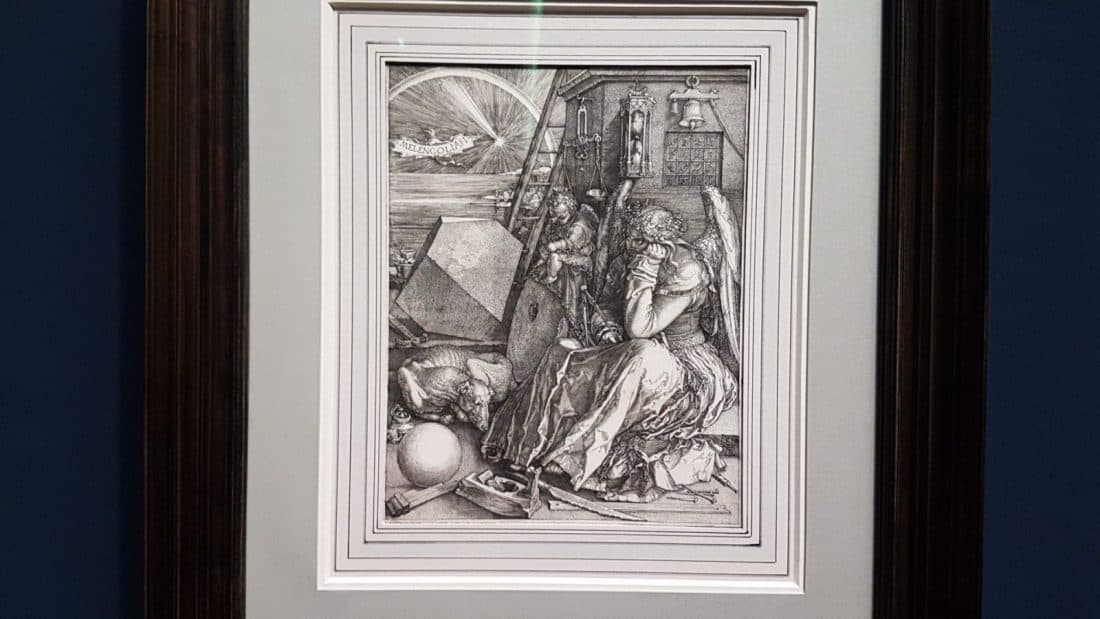 "Durer's ""Melancholy"" at the Albertina exhibition. Photo: Art with me! e.U., 2019"