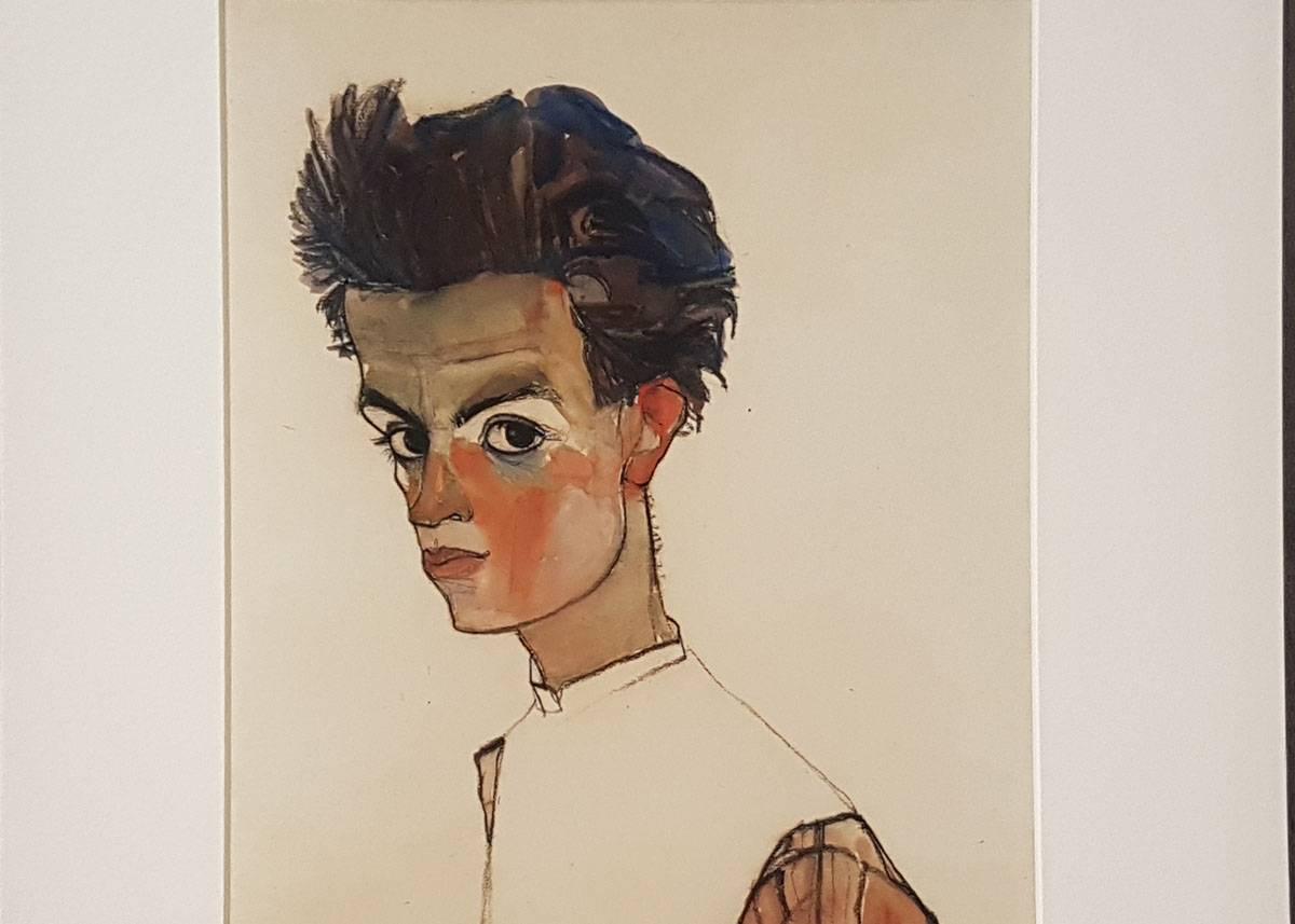Музей Леопольда шиле автопортрет вена