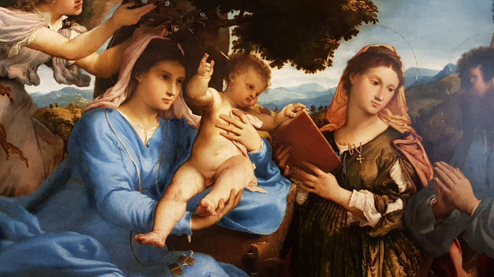 "Fragment of the ""Holy Family"" by Lorenzo Lotto from the collection of the Vienna Museum of Art History. Photo: wikiart.org."