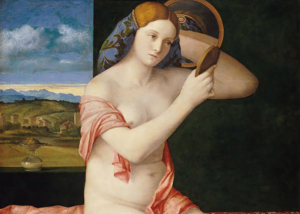 """The young lady at the toilet"" by Giovanni Bellini from the collection of the Museum of Art History in Vienna. Picture: wikiart.org."