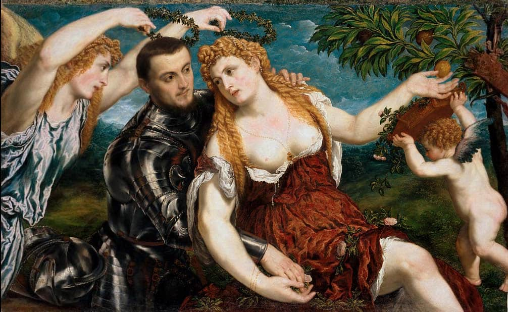 """Allegory of Love"" by Paris Bordonne (fragment) at the Vienna Art History Museum. Picture: wikiart.org."