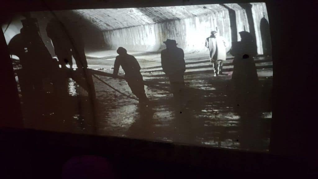 "Projection of the film ""The Third Man"" in the sewers of Vienna. Photo: Art with me! e.U., 2019"