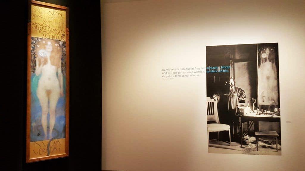 """""""Нагая правда"""" Густава Климта в Музее Театра во Дворце Лобковиц. Фото Юлии Абрамовой, 2020"""