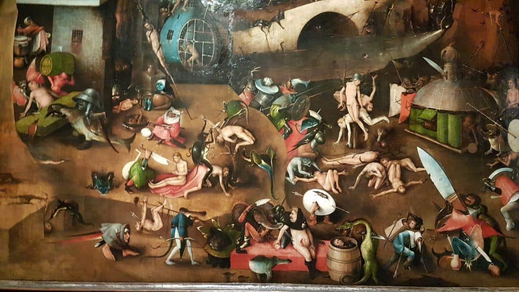 "Hieronymus Bosch ""The Last Judgment"", punishments' scenes. Photo: Art with me! e.U., 2019."