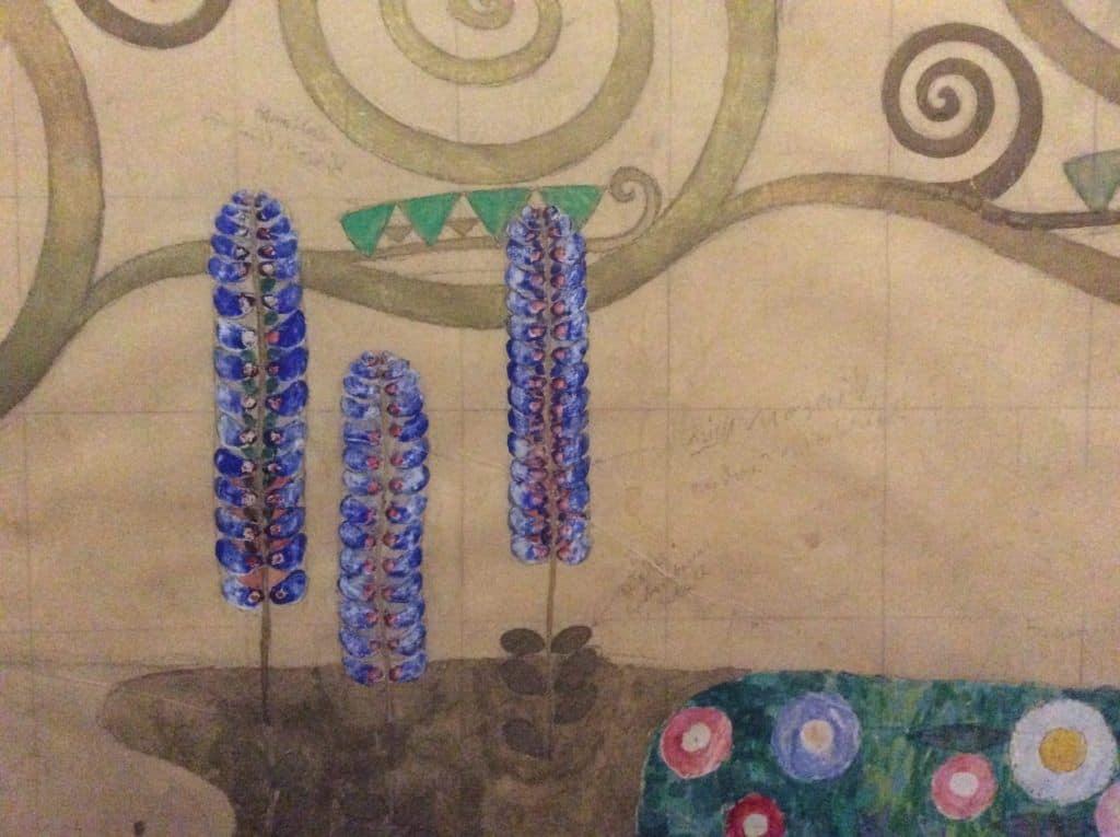 Густав Климт. Фрагмент картона для дизайн интерьера Дворце Стокле. Фото: Art with me! e.U., 2019