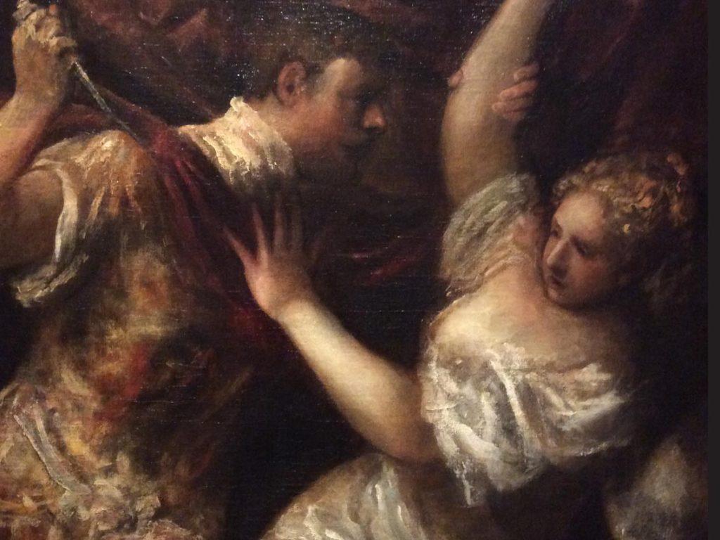 Фрагмент картины Тициана в Галерее Академии искусств. Фото: Art with me! e.U., 2018