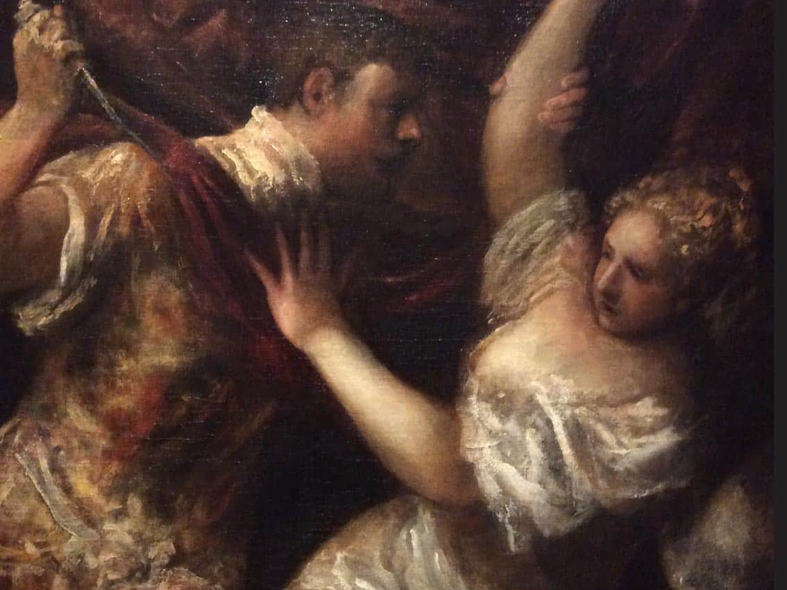 A fragment of Titian's painting at the Gallery of the Academy of Arts. Photo: Art with me! e.U., 2018