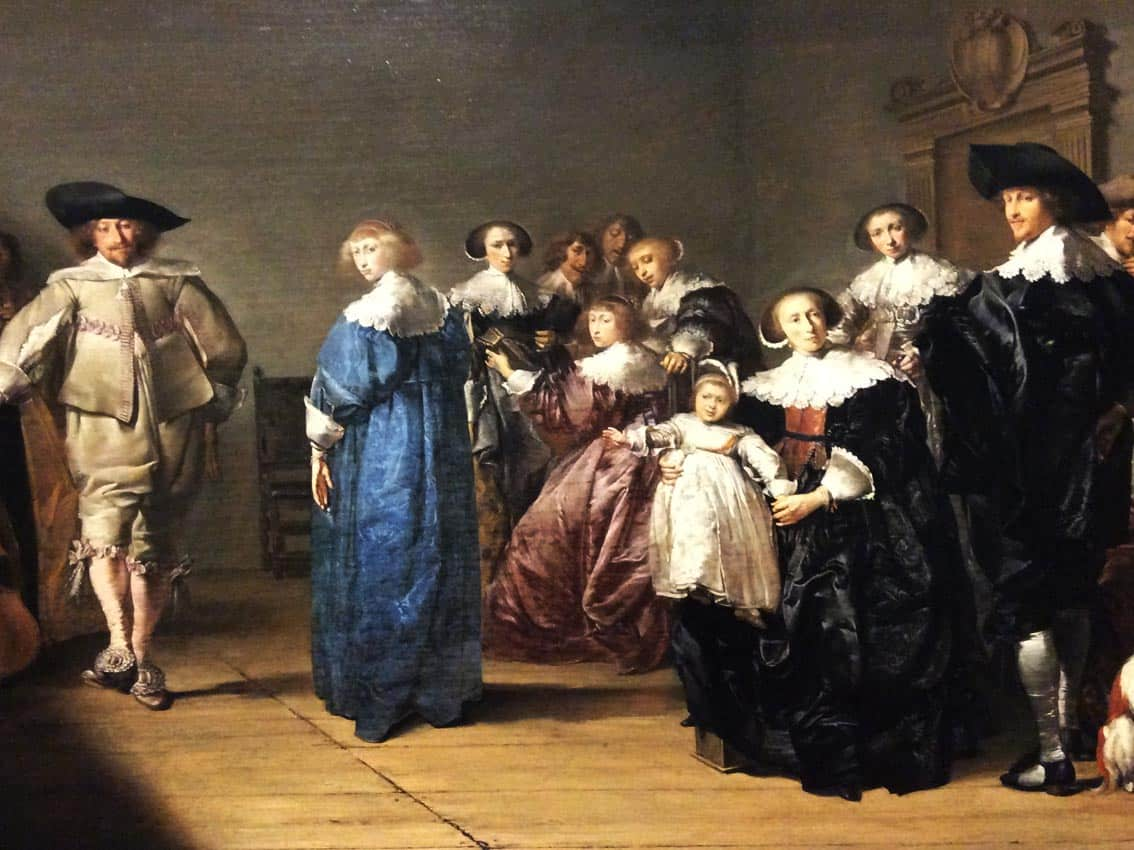 "Pieter Codde ""Merry Company"", a fragment of a painting from the collection of the Vienna Academy of Arts. Photo: Art with me! e.U., 2018."