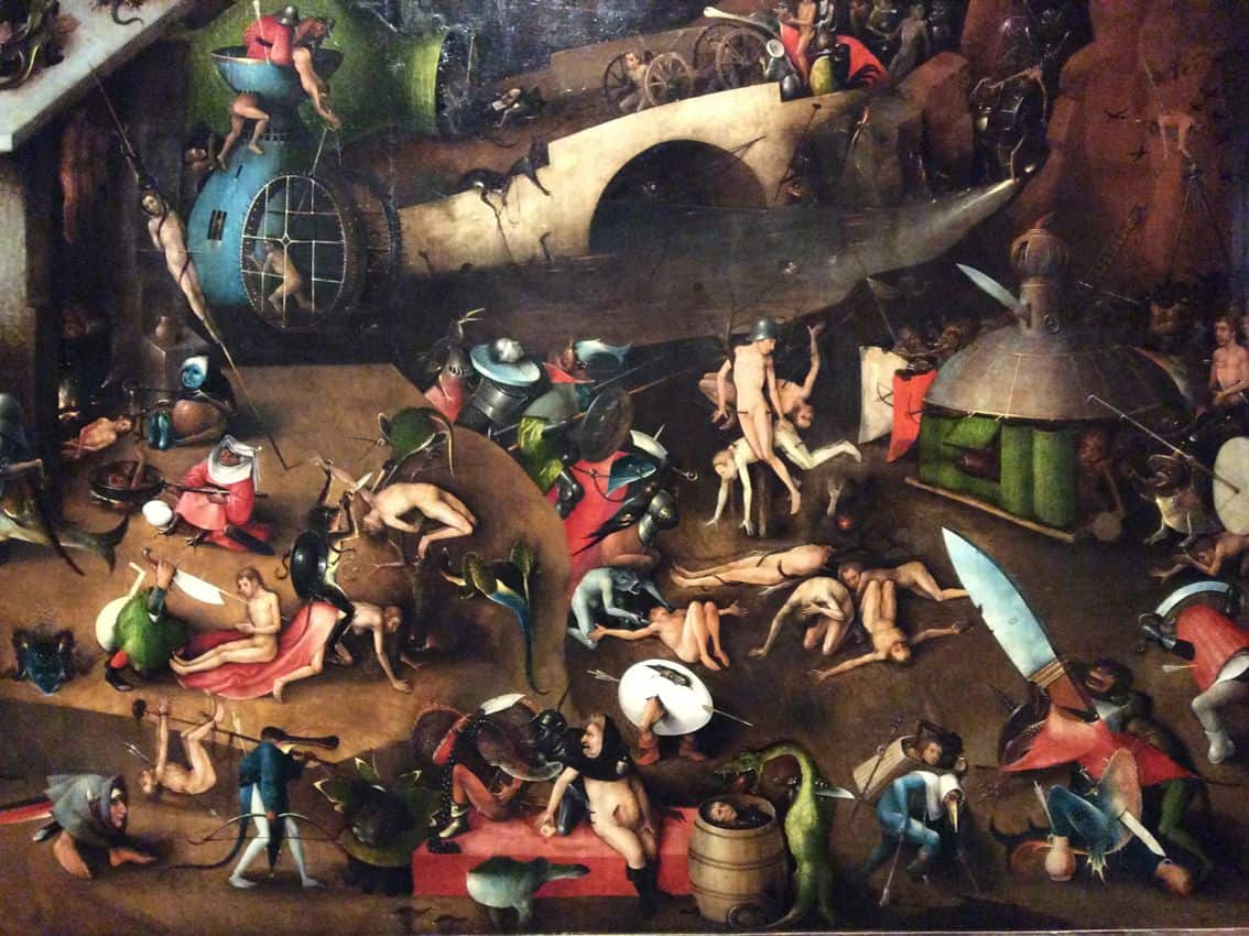 "Fragment of ""Last Judgment"" by Hieronymus Bosch from the collection of the Gallery of the Academy of Art in Vienna. Photo: Art with me! e.U., 2018"