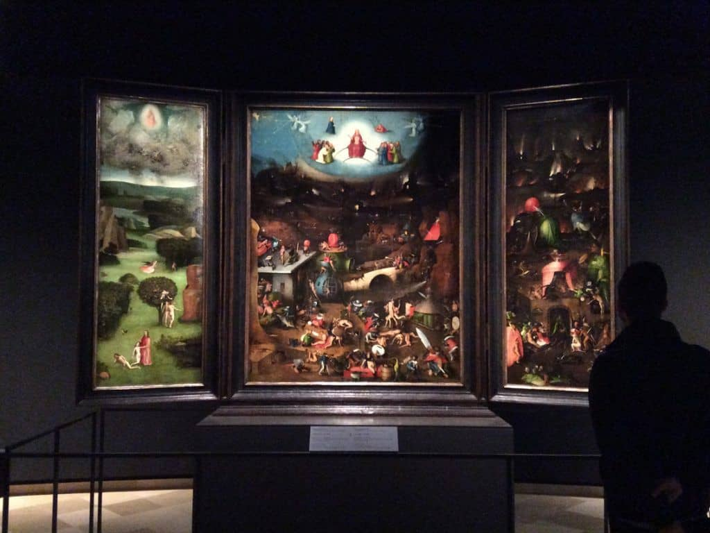 """The Last Judgment"" by Hieronymus Bosch in the exposition of the Lobkowiz Palace in Vienna. Photo: Art with me! e.U., 2019."