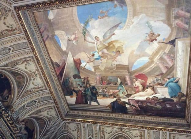 Munchachi painting on the ceiling at the Museum of Art History. Photo: Art with me! e.U., 2019.