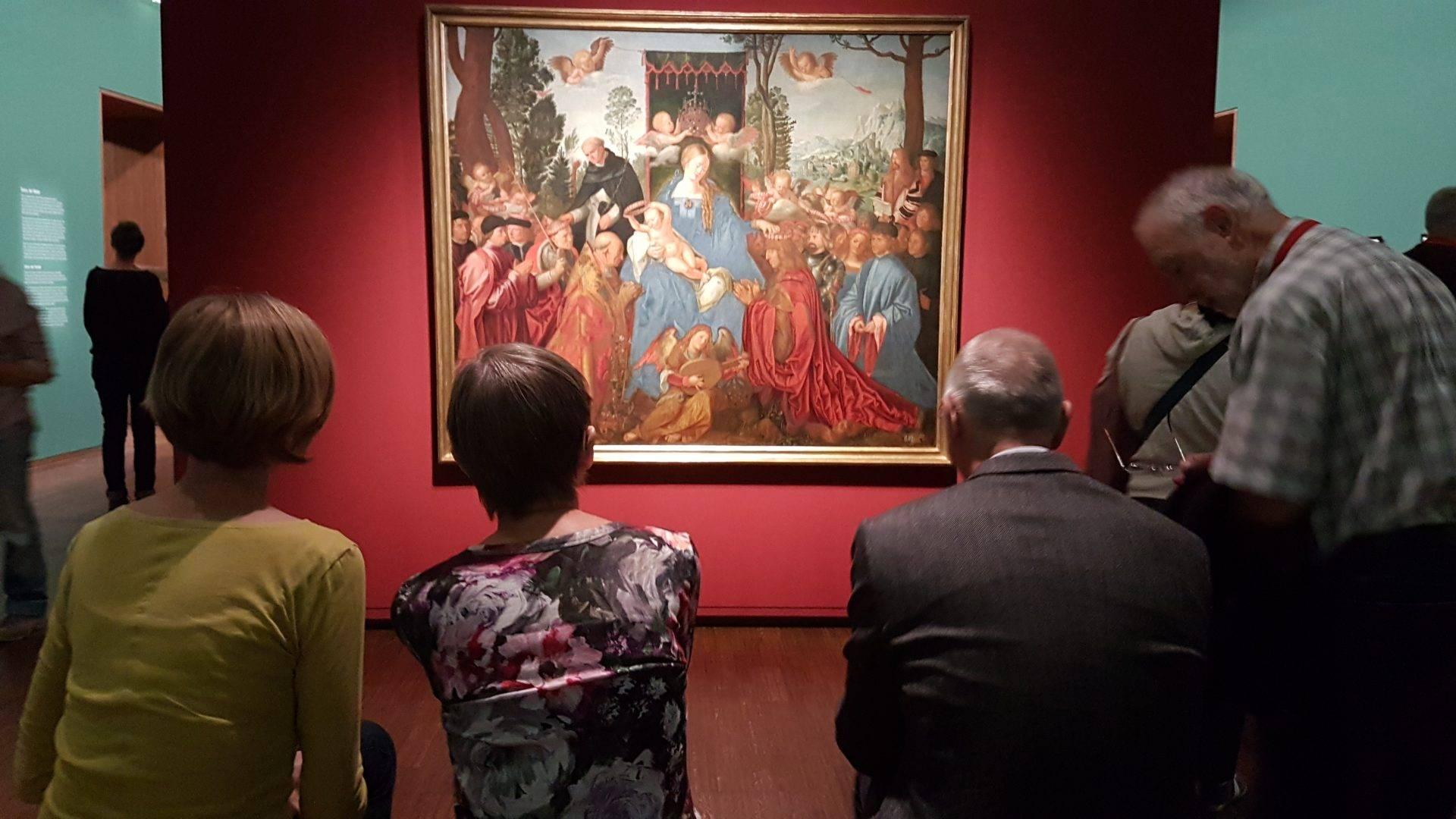 Зрители в экспозиции Альбрехта Дюрера в экспозиции выставки в Альбертине. Фото Art with me! e.U., 2019