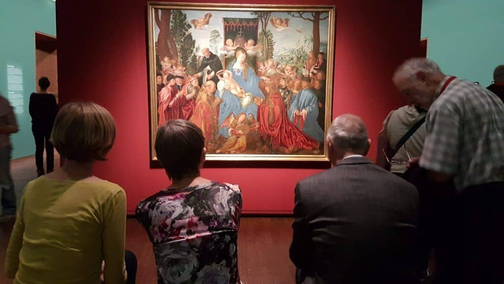 Visitors at Durer's exhibition in Albertina, Vienna. Photo: Art with me! e.U., 2019