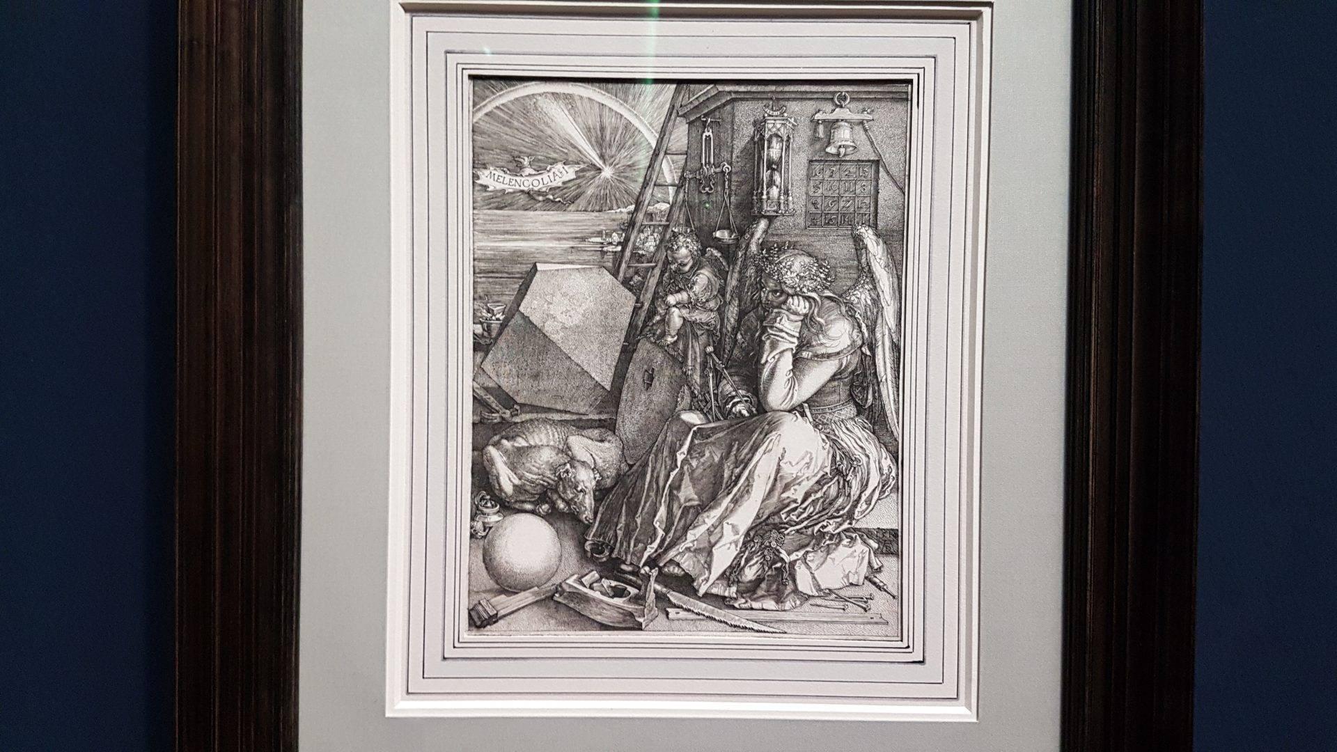 """Альбрехт Дюрер """"Мелонхолия"""" (1514) в экспозиции выставки в Альбертине. Фото Art with me! e.U., 2019"""