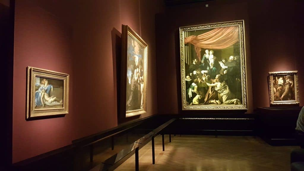 """Madonna with beads"" in the exhibition ""Caravaggio and Bernini"" at the Museum of Art History. Photo Art with me! e.U., 2020"