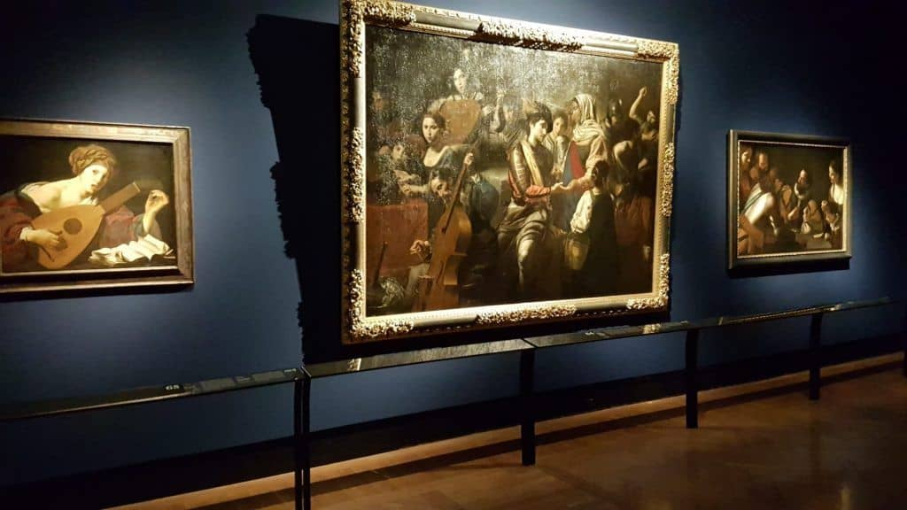 "The ""Joke"" section of the exhibition ""Caravaggio and Bernini"". Photo: Art with me! e.U., 2020"