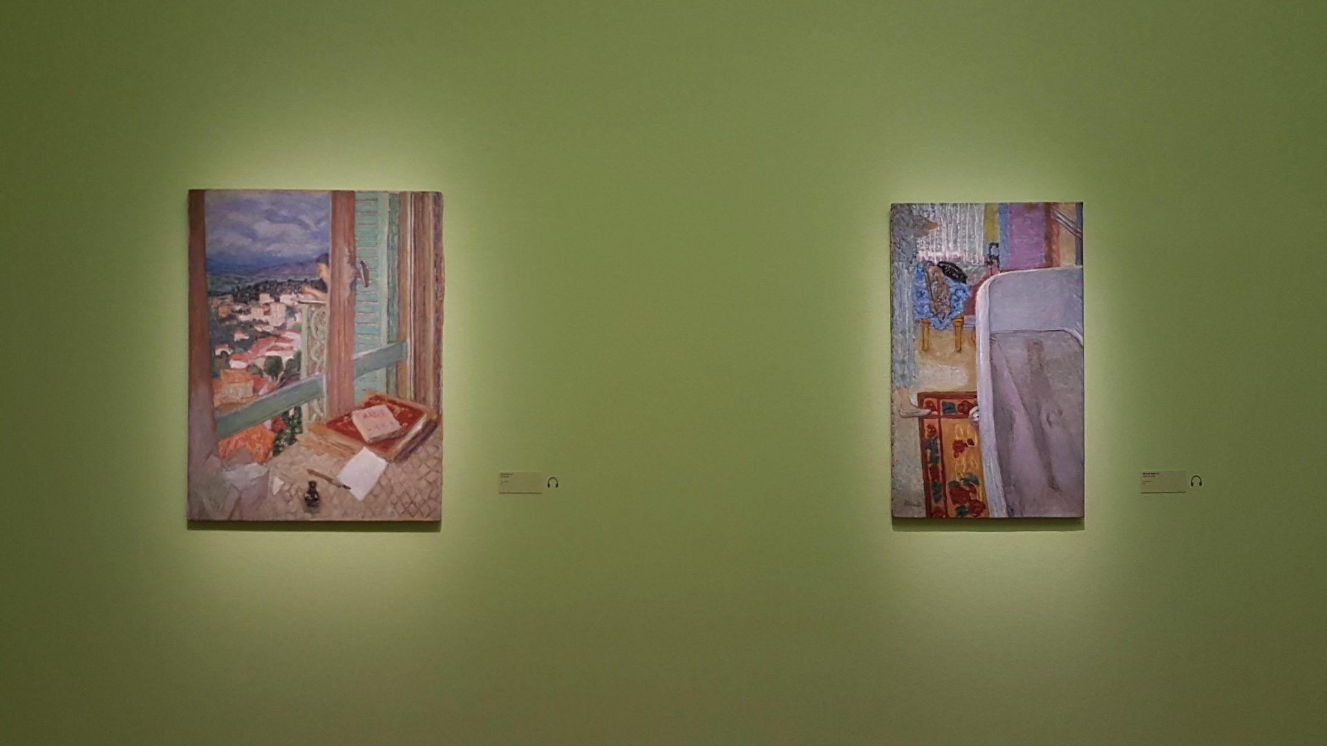 Экспозиция выставки Пьера Боннара в Кунстфоруме Форума Австрия, 2019