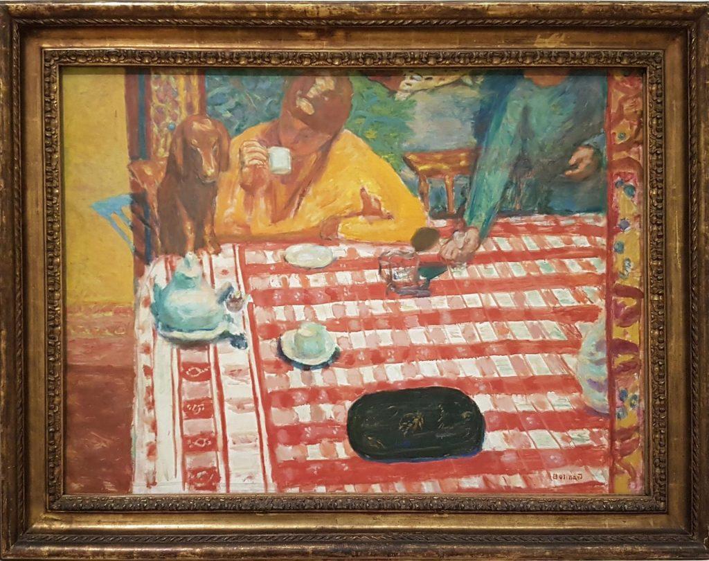 Кунстфорум Австрия картина Пьера Бонара завтрак с собакой