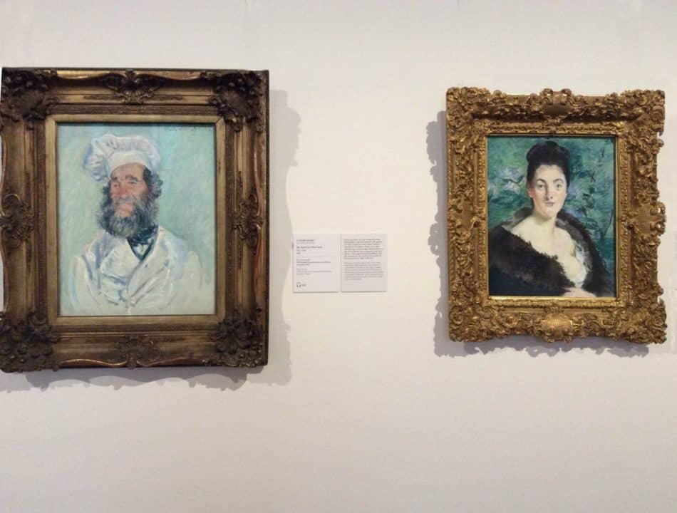Paintings by Claude Monet and Auguste Renoir in the exhibition of the Upper Belvedere. Photo by Julia Abramova, 2020