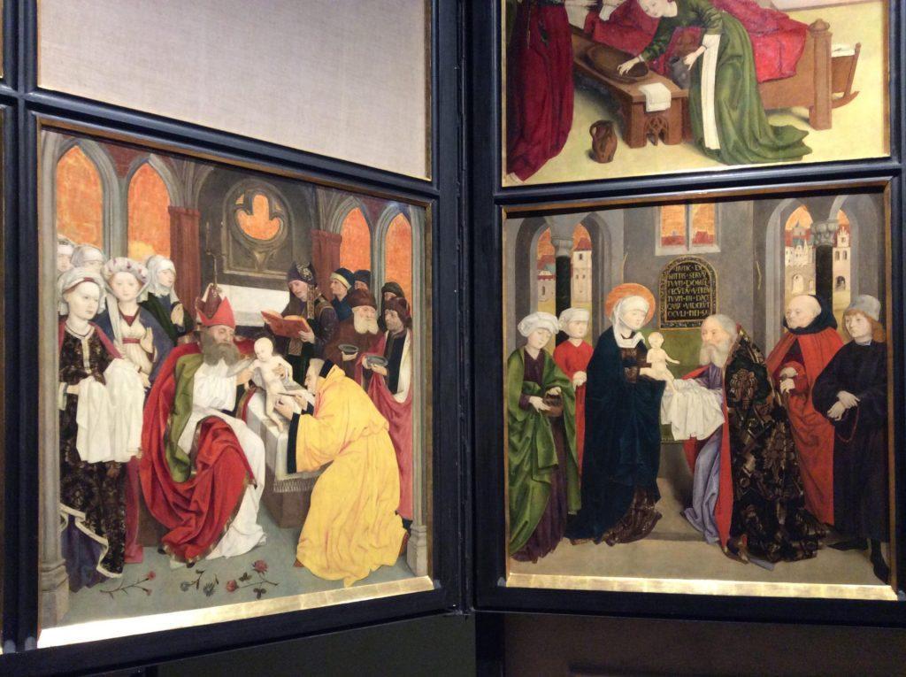 Сцены обрезания и принесения в храм с алтаря церкви венского Шотландского монастыря. Фото: Юлия Абрамова, 2018