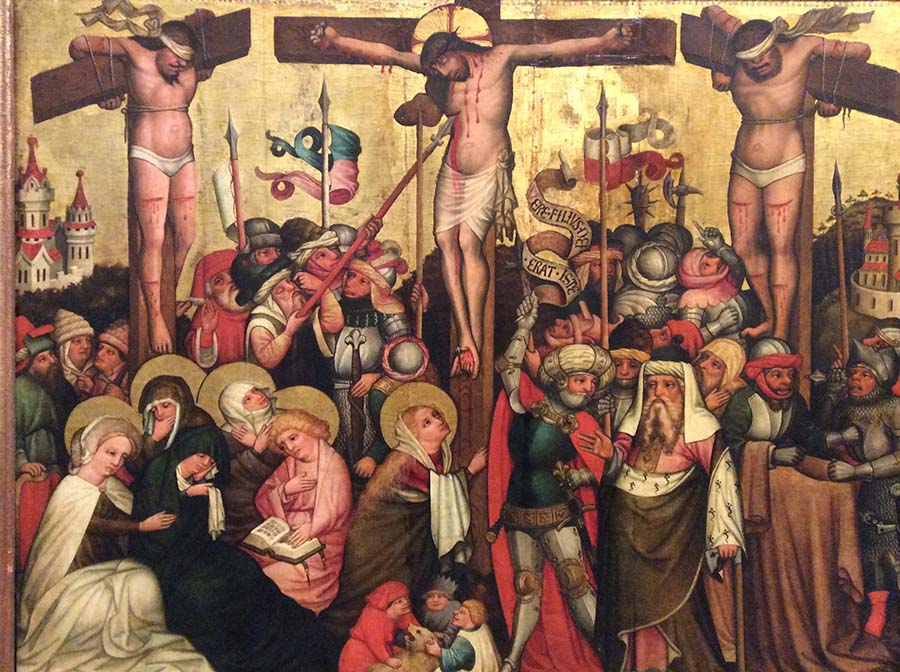 "Master von Laufen ""Crucifixion of Christ"" 1455/1460 in the Lower Belvedere. Photo: Art with me! e.U., 2019."
