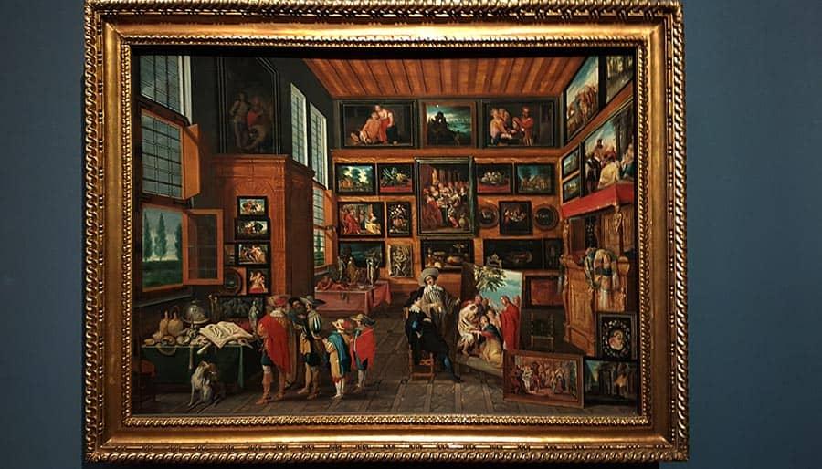 Ханс Йорданс «Коллекция искусства и редкостей» (ок.1630) в экспозиции Музея истории искусства в Вене. Фото Art with me! e.U.