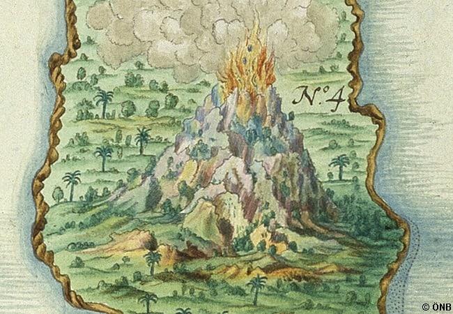 Фрагмент карты Joannes Vingboons, Straße von Malakka, Banda-Inseln, 1666. Фото Австрийской национальной библиотеки