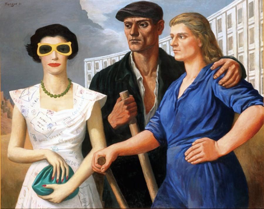 "Войцех Фангор ""Фигуры"", Холст, масло. 100x125 cm, 1950 © Wojcieh Fangor. Courtesy of Museum of Art in Lodz"