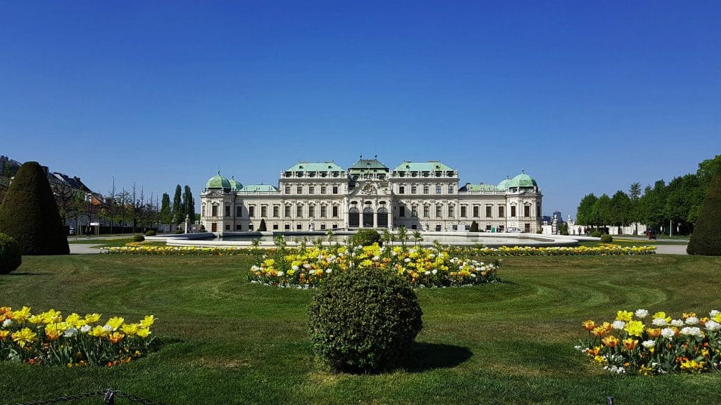 Palace Upper Belvedere, a view from the garden. Foto: Art with me! e.U., 2020