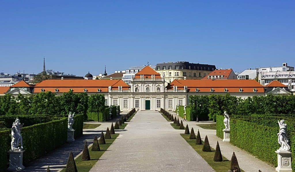The Palace Lower Belvedere, a view from the garden. Foto: Art with me! e.U., 2020